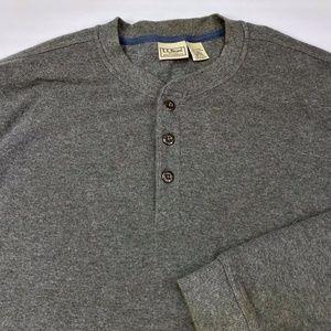 LL Bean Men's Long Sleeve 1/4 Button Pullover